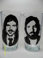 Avert Brothers, Pint Glasses, Hand painted glassware