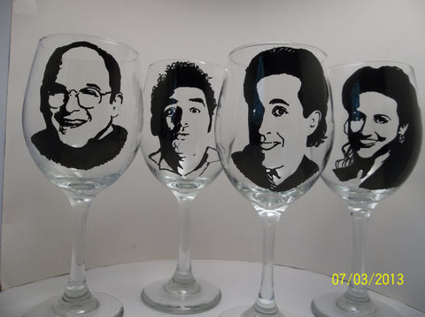 Seinfeld, Hand painted wine glasses