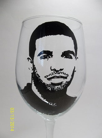 Drake, Hand Painted Glass, Painted Glass