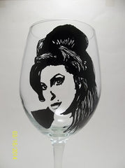 Amy Winehouse, Hand Painted Glassware