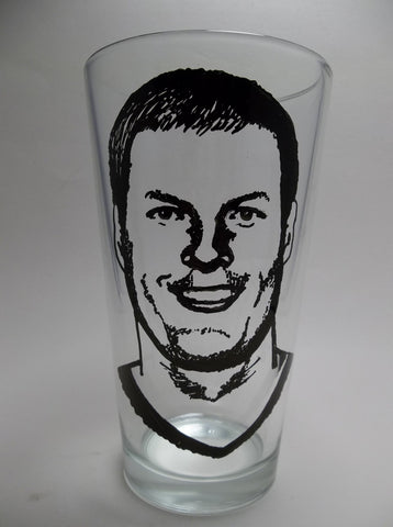 Philip River, San Diego Chargers, Hand painted pint glass