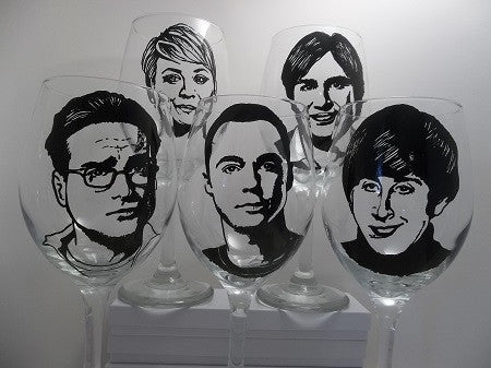 Big Bang Theory, Hand painted glassware