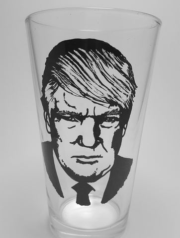 Donald Trump, Hand painted glass