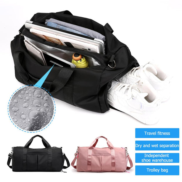 Waterproof Nylon Sports Gym and Travel Bag - Dessentialshop