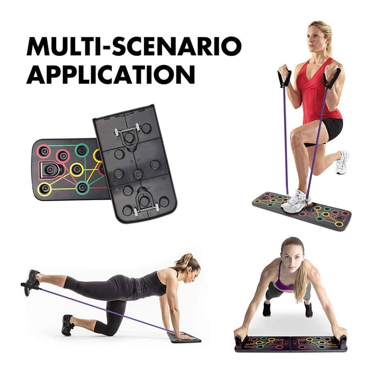 13-in-1 Push Up Rack Board with Resistance Band Gear - Dessentialshop