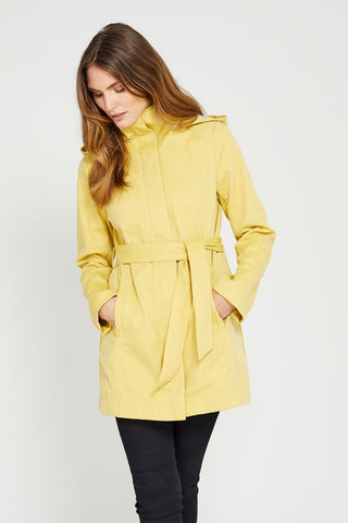 Ava Modern Rain Shell - Yellow