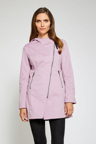 Houston Trending Rain Jacket Fleece Lined - Blush