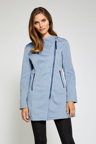 Houston Light Trending Rain Jacket - Denim Blue