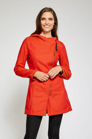 Houston Trending Light Rain Jacket - Poppy