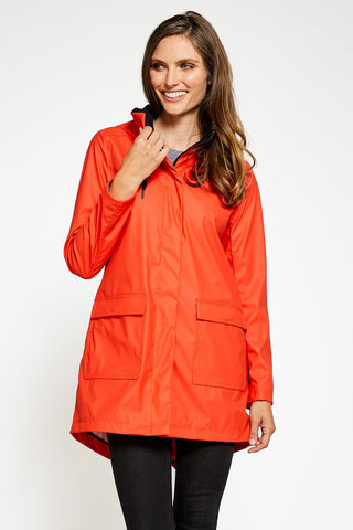 Sadie Modern Light Weight Windproof Shell - Poppy