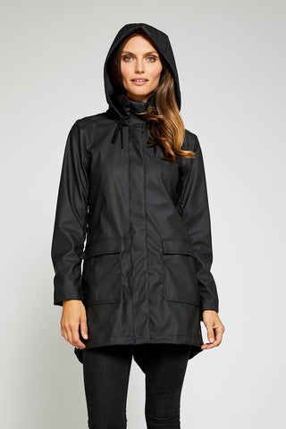Sadie Modern Light Weight Windproof Shell - Black