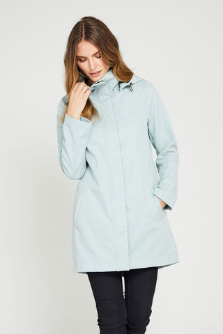 Stella Modern Light Weight Rain Shell - Robins Egg Blue