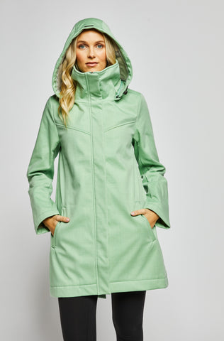 Stella Modern Light Weight Rain Shell - Mint