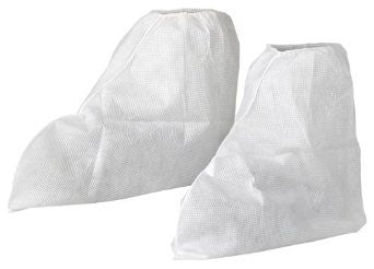 White Boot Cover - Elastic Top