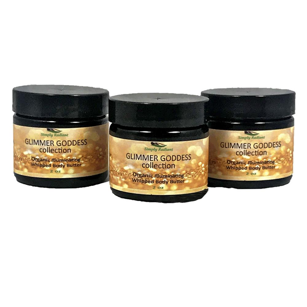 Organic Shimmering Whipped Body Butter Gift Set Trio