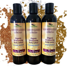 Load image into Gallery viewer, Glimmer Goddess Organic Diamond Shimmer Body Lotion - Sparkle For All