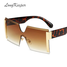 "Load image into Gallery viewer, ""GOLDEN"" Oversized Rimless Sunglasses"