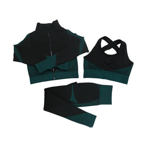 Royalty Luxe Seamless 3pcs Jogging Suit