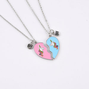 BFF Friendship Unicorn Necklace