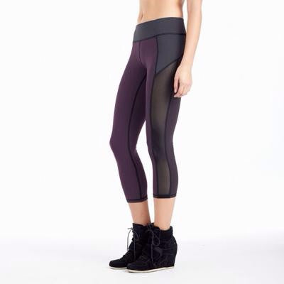 Michi NY Activewear - Stardust Crop Plum