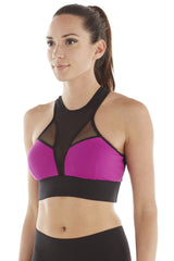 MICHI NY ACTIVEWEAR AVALON BRA - MAGENTA / BLACK