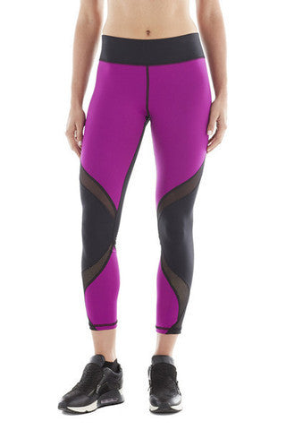 MICHI NY ACTIVEWEAR Hydra Crop LEGGING - MAGENTA / BLACK