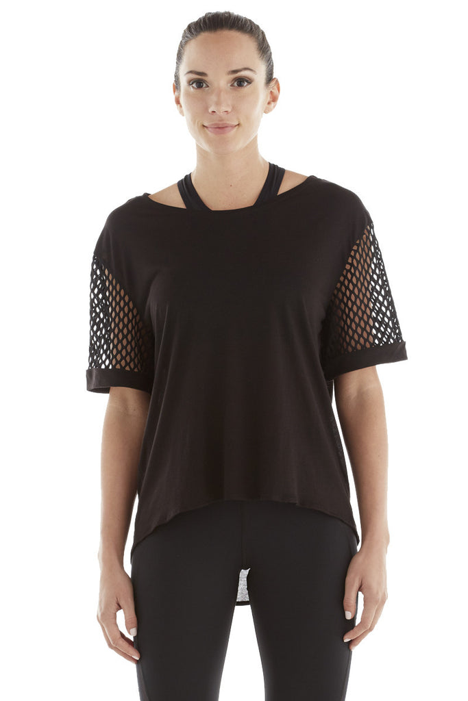 MICHI NY ACTIVEWEAR RIZE TOP - BLACK