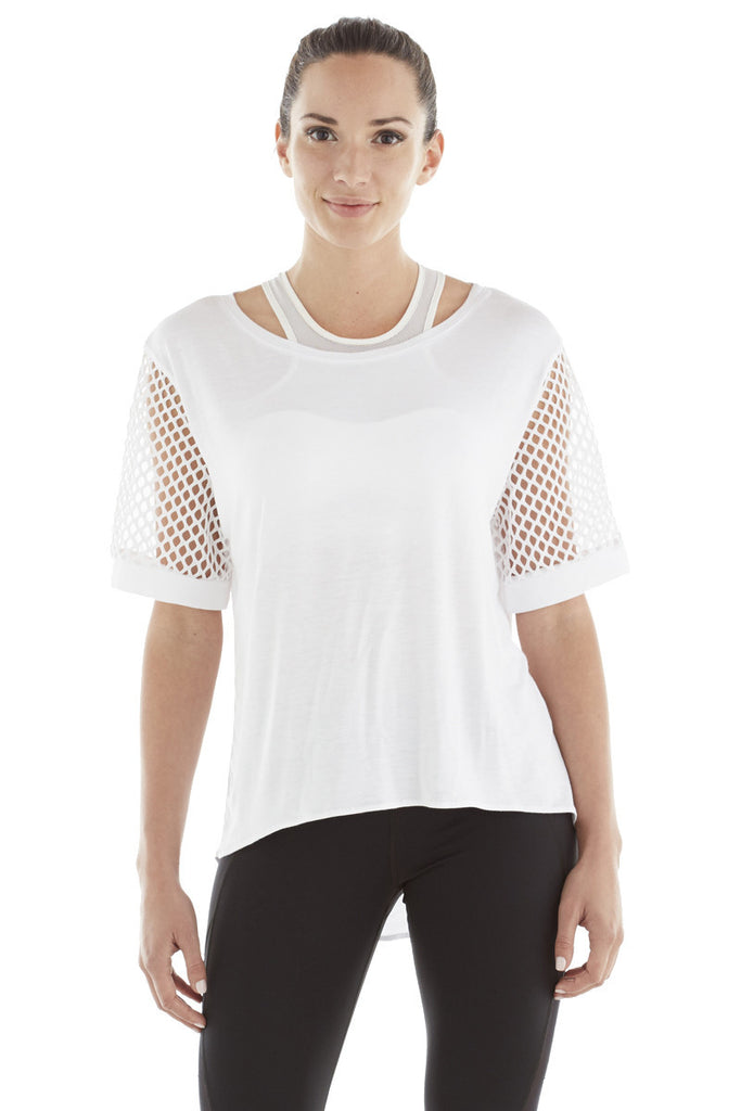MICHI NY ACTIVEWEAR RIZE TOP - WHITE