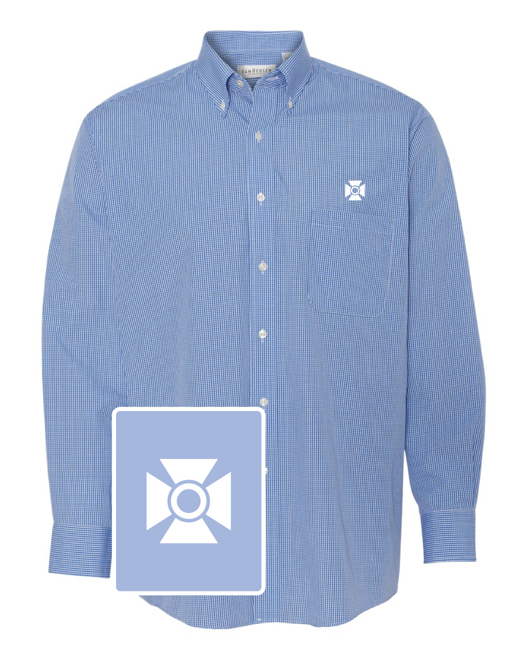 Alpha Tau Omega Gingham Button Down Shirt