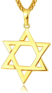 Jewish Jewelry Megan David Star Pendant Necklace Women Men Chain