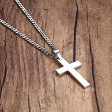 New Cross Pendant Chain Necklace for Men Women Jewelry Gift
