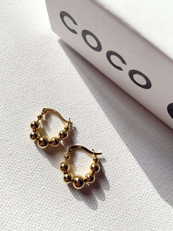 14k Gold Plated - Stella Bead Earring
