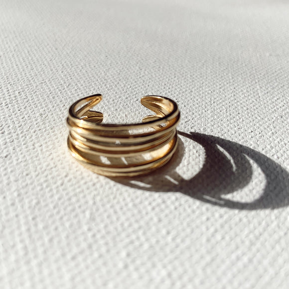 14K Gold Plated - Stack Ring