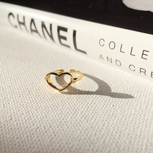 14K Gold Plated - Heart On My Sleeve Ring