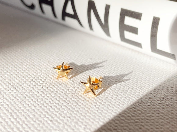 14K Gold Plated - Star Minimalist Stud Earring