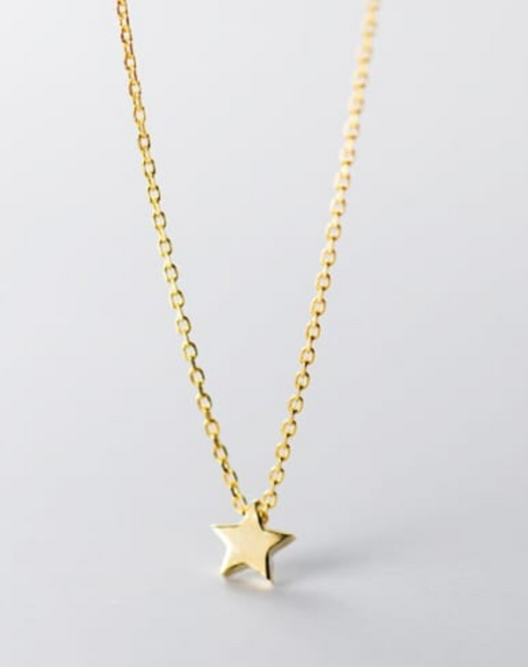 14K Gold Plated - Dinky Star Necklace