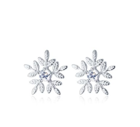 Sterling Silver - Snow Drop Studs