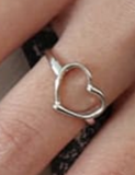 Sterling Silver - Heart On My Sleeve Ring