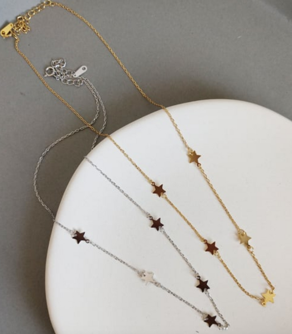 18K Gold Plated - Shooting Star Necklace
