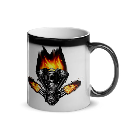 Burning Motor -Magic Mug freeshipping - Motorcycle Merch 99
