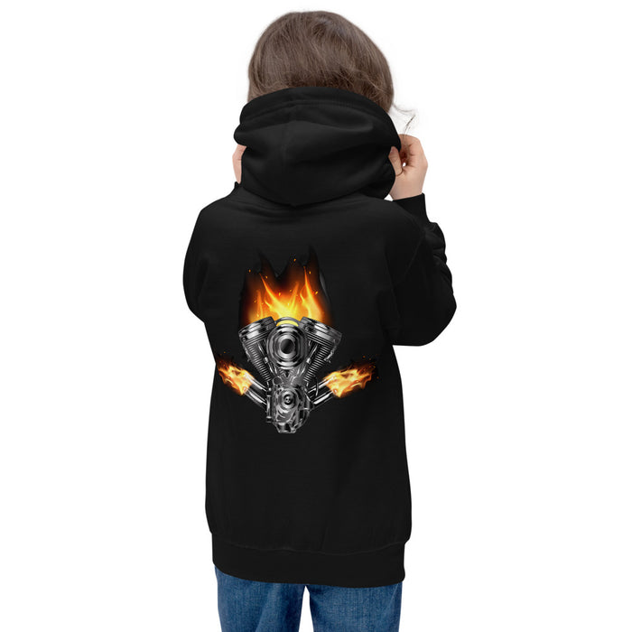 Burning Motor - Kids Hoodie freeshipping - Motorcycle Merch 99