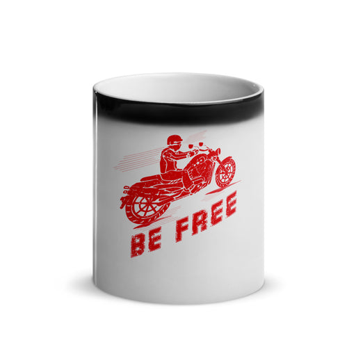Be Free - Glossy Magic Mug freeshipping - Motorcycle Merch 99