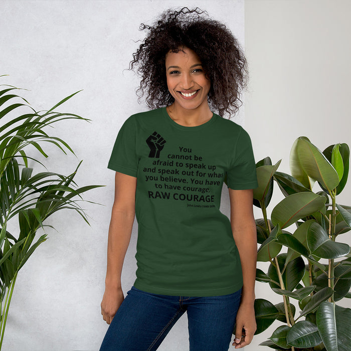 Forest Green T-shirt with John Lewis quote