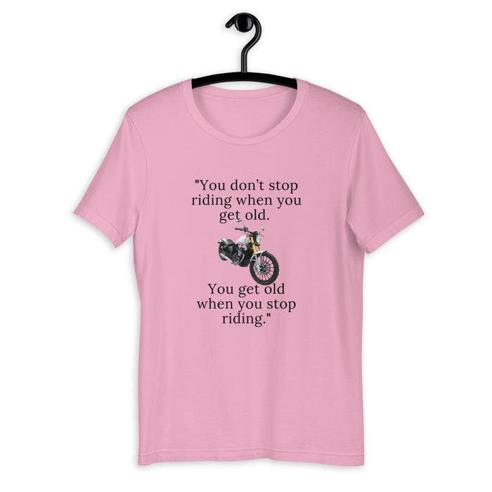 Don't Stop Riding - Short-Sleeve Unisex T-Shirt