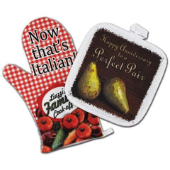 Oven Mitt and Hot Pad Set with Your Own Design