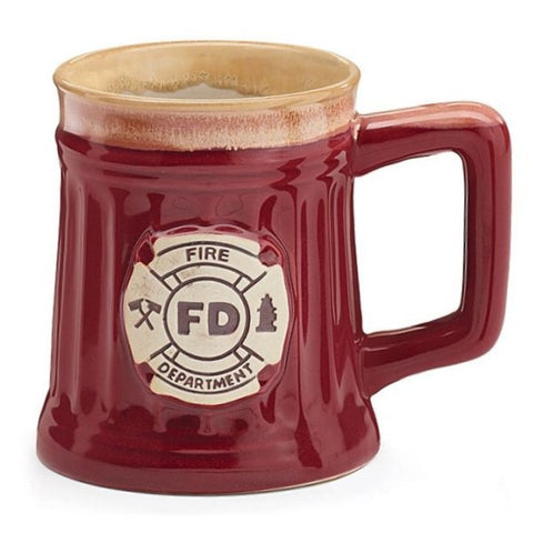 Picture of 15 oz. Fire Department Officer Porcelain Coffee Mugs - 6 Pack