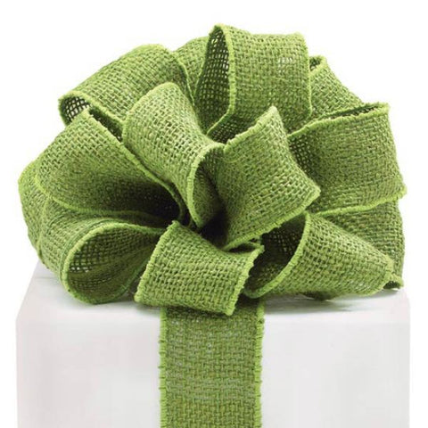 Picture of #16 Moss Green Burlap Wired Ribbon