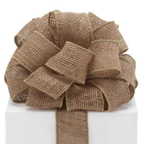 Picture of #16 Natural Burlap Wired Ribbon