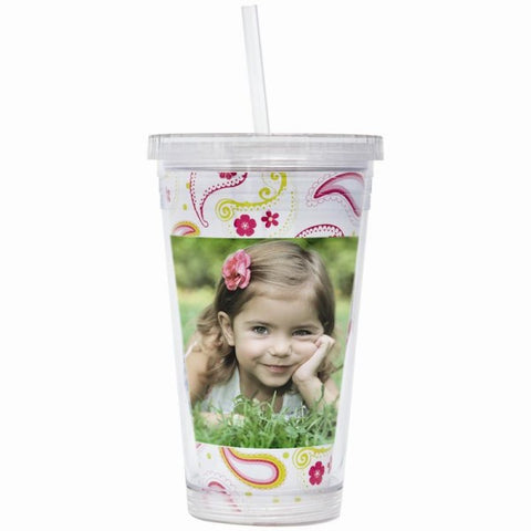 Picture of 16 oz. Acrylic Tumbler with Straw