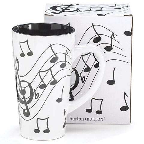 Picture of 16 oz. Musical Note Ceramic Latte Mug - 4 Pack